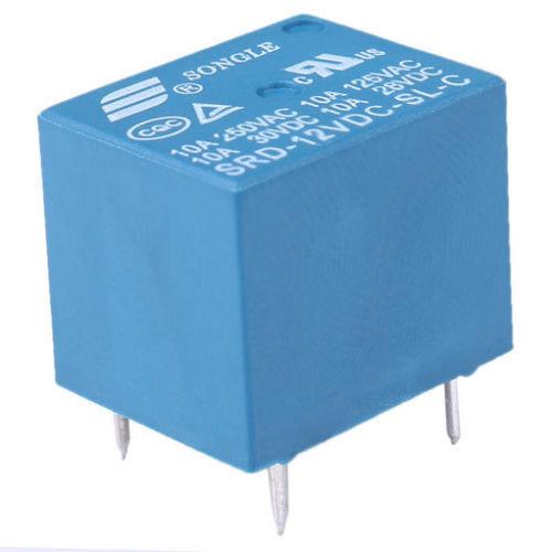 12V DC 10PCS  5Pins RELAY  Coil Power Relay PCB SRD-12VDC-SL-C 2J2 new LB