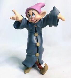 Walt Disney's DOPEY Coat Dancing Snow White & Seven Dwarfs Figurine RARE