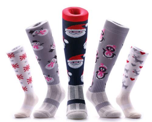 SAMSON® SNOWMAN CHRISTMAS SOCKS SKI PRESENT FESTIVE STOCKING FOOTBALL COSY WARM