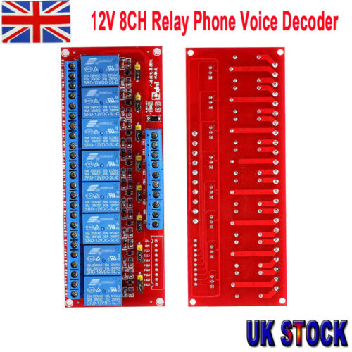 12V 8CH Relay Phone Voice Decoder Remote Control Switch Relay Module Board bs