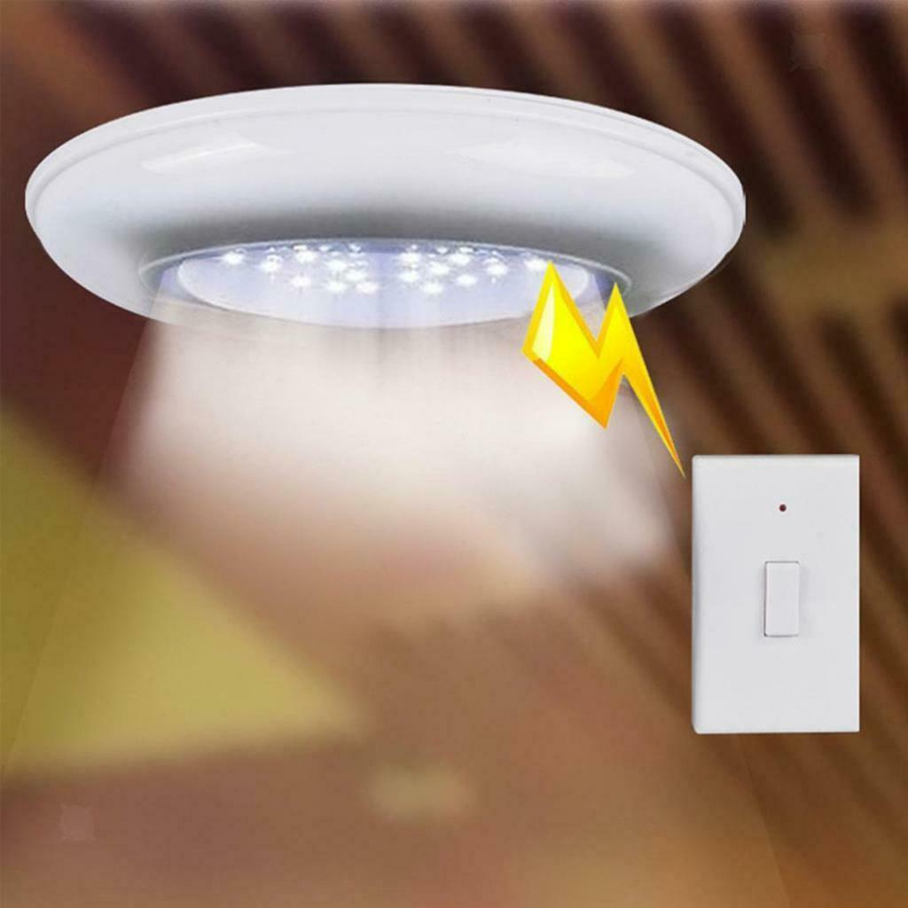 2w Battery Operated Wireless Ceiling Wall Closet Hall Light Remote Control For Sale Online