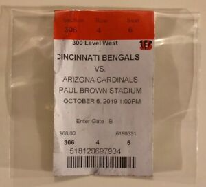 NFL TICKET Cincinnati Bengals vs. Arizona Cardinals stagione 2019 USA NBA MLB