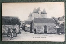 CPA. NEMOURS. 77 - Le Chateau. Attelage Cheval.