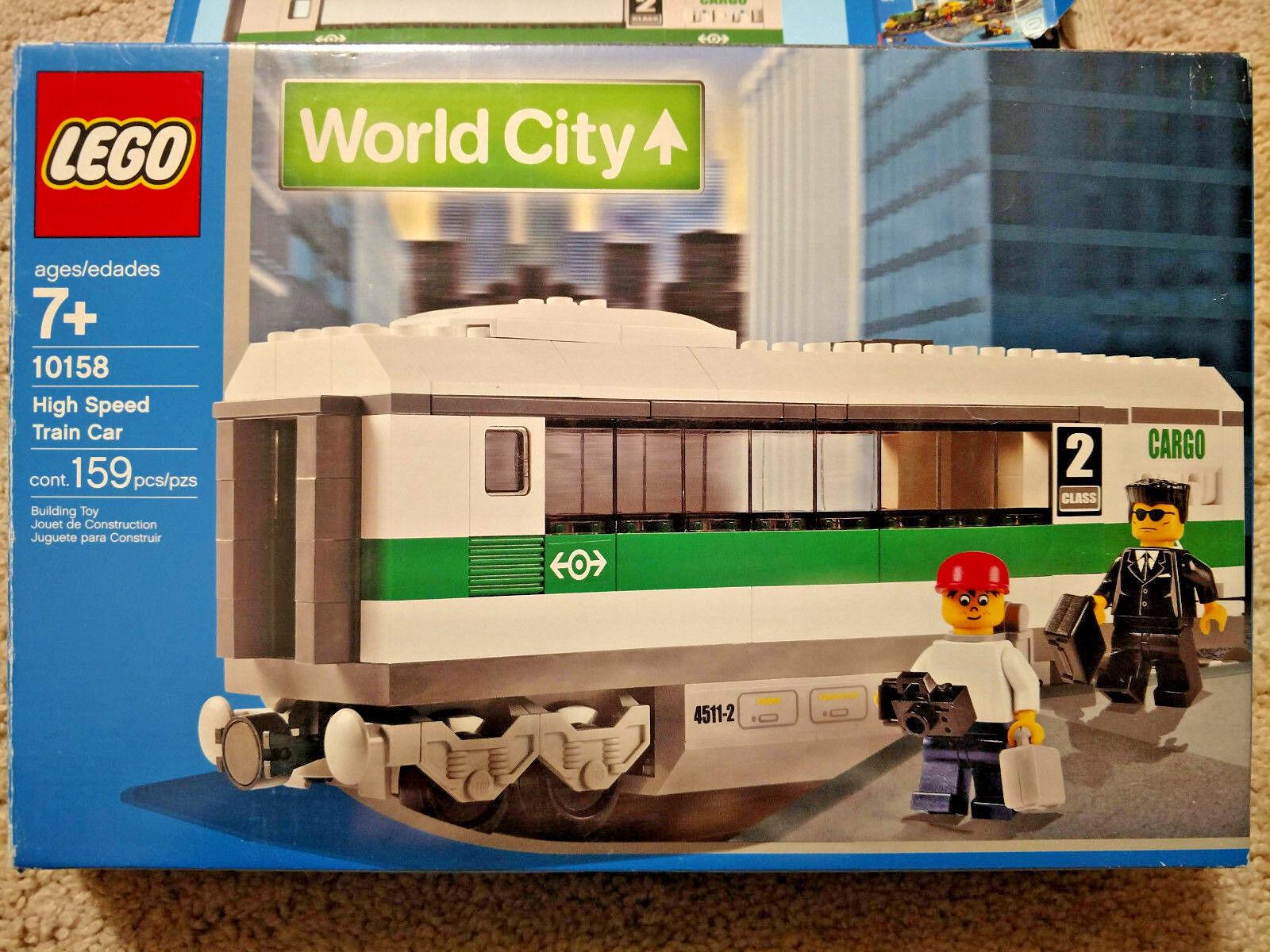 Lego world city 9 V Train à Grande Vitesse  Voiture (10158)  réductions et plus