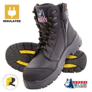 ca42185e005 Details about Steel Blue Torquay EH Electrical Hazard Work Boots Zip  Composite Toe Cap 827539