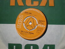 STEVIE LEWIS Take A Little Warning UK DEM0 45 RCA 1969 NM