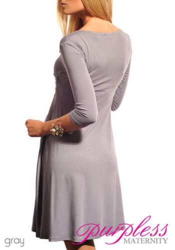 New Ladies MATERNITY DRESS V-Neck Pregnancy Size 8 10 12 14 16 18 Top 4400