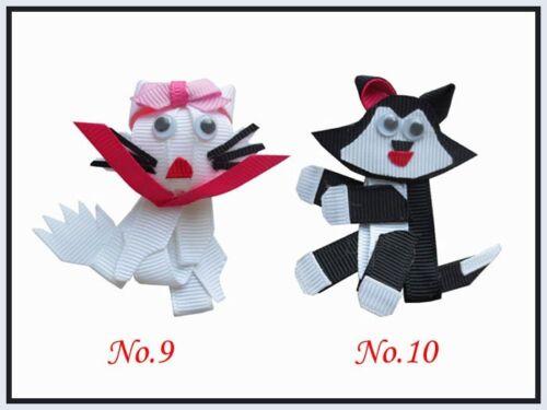 58 Good Girl Bug Bow Clip Character Teddy Bear Cat Dog  Rabbit Heart Monkey Owl
