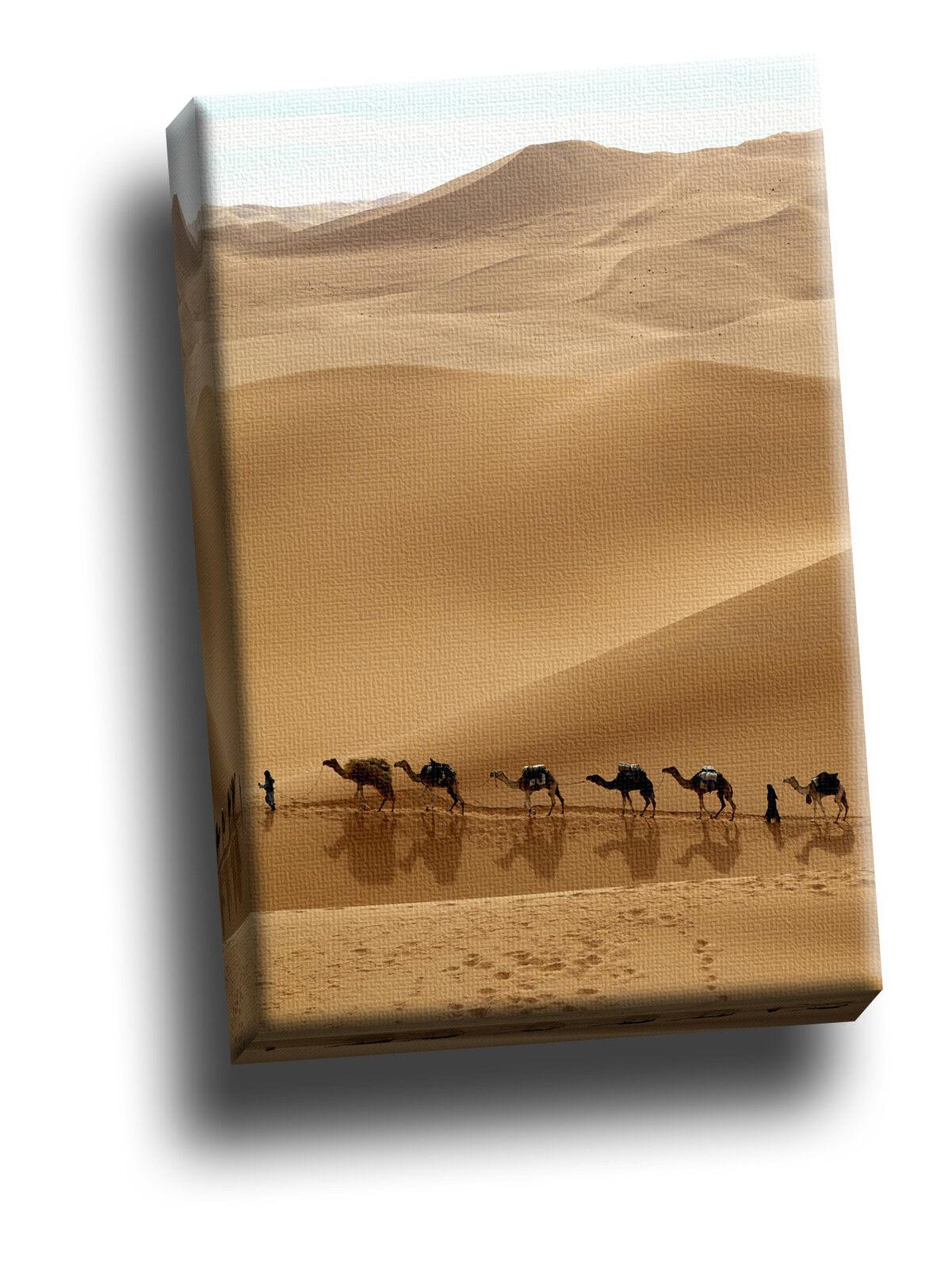 Camel caravane, la libye giclee toile photo art
