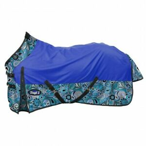 Tough-1-1200D-Water-Repellent-Poly-Turnout-Sheet-Paisley-Shimmer-Horse-Tack