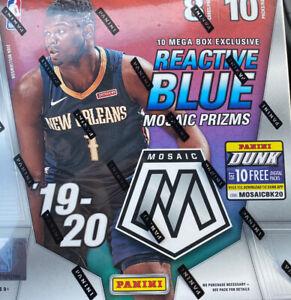 2019-2020-Panini-Mosaic-Prizm-Mega-Box-Reactive-Blue-Basketball-ZION-MORANT-HOT