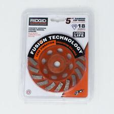 Ridgid 5 In 18 Segment Turbo Cup Diamond Grinding Wheel For Concrete Amp Masonry