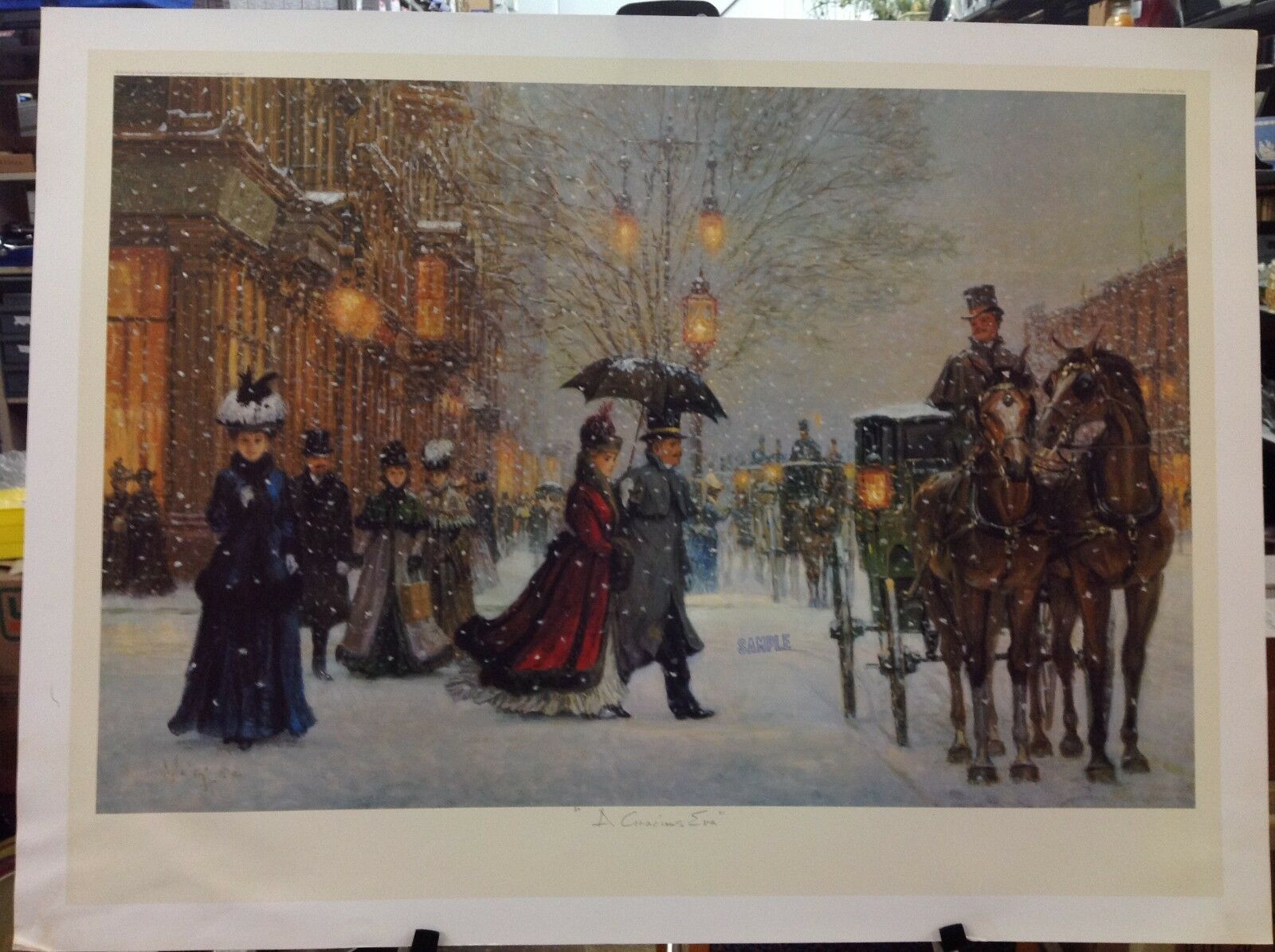 Alan Maley - A Gracious Era - Stamped Sample Print 36 x 27 (a)