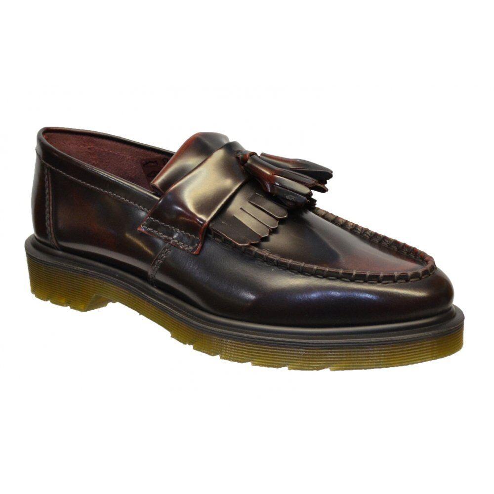 DR MARTENS MARTENS MARTENS ADRIAN da Uomo Mocassino Shoes Cherry Rosso o Nero 529e7b