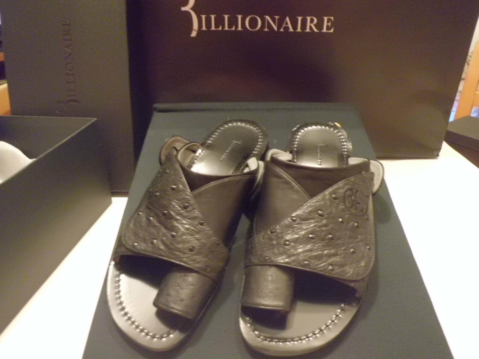 BILLIONAIRE Italian Couture Sandali Pelle  /  Ostrich   size  1230,00