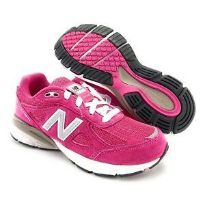 New Balance Girl's 990v4 Hot Pink White