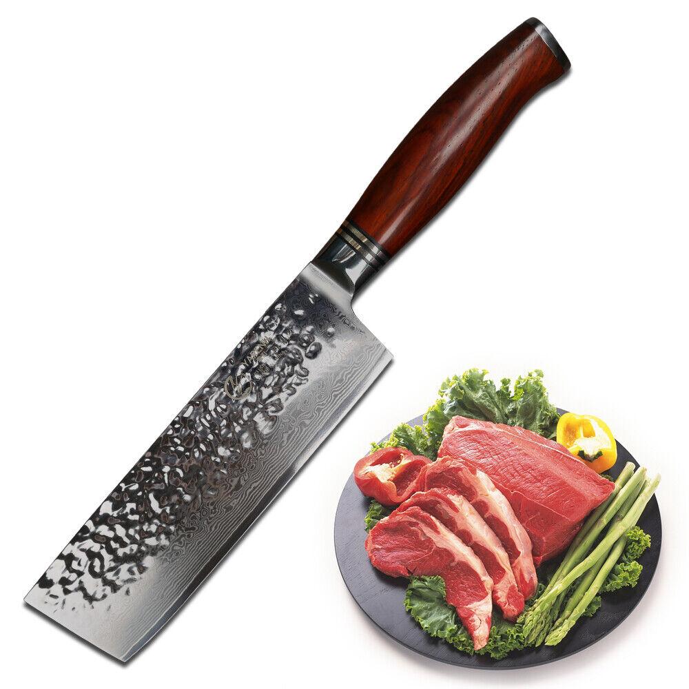 Yarenh Damassé Couteau Nakiri 18 cm-Couteau damassé-Damassé Couteau Couteau Cuisine