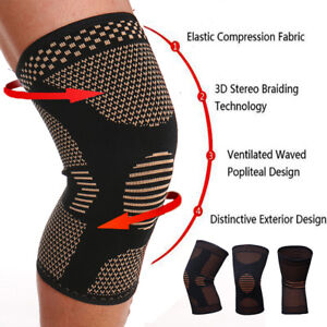 Copper-Infused-Leg-Brace-Magnetic-Knee-Compression-Sleeve-Support-Pain-Relief-SF