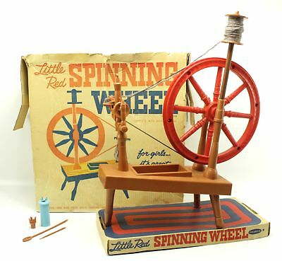 1961 Vintage Remco Little Red Spinning Wheel Toy #819 | eBay