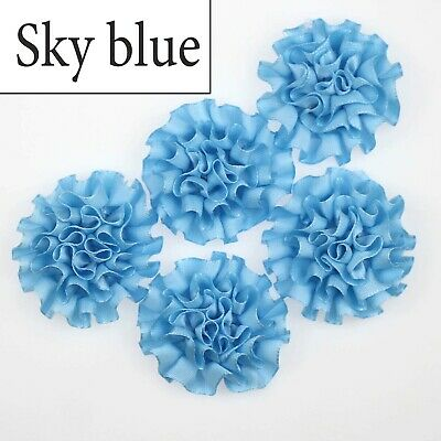 10//25pcs satin ribbon big Peony Flower Appliques//craft//Wedding decoration U