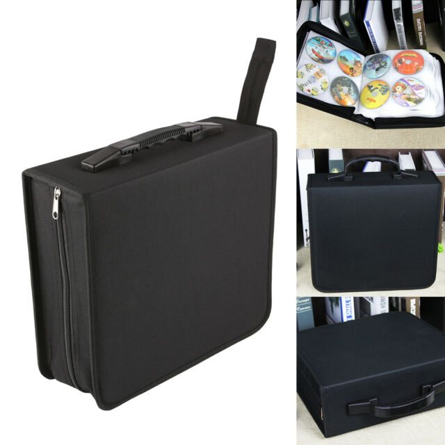 320 Sleeve CD DVD Blu Ray Disc Carry Case Holder Bag Wallet Storage Ring Binder