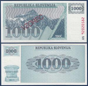 SLOWENIEN-SLOVENIA-1000-Tolarjev-Specimen-1992-UNC-P-9s1