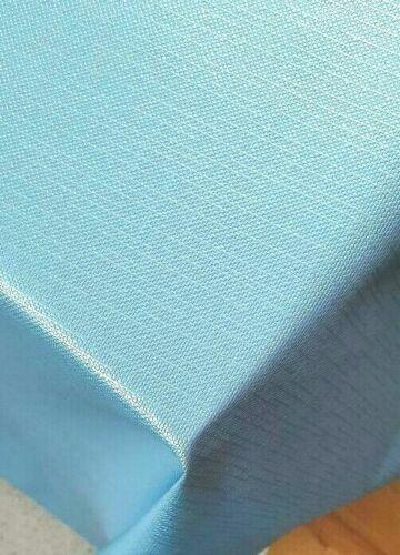 Plain Duck Egg Blue Shiny Textured Linen Feel PVC Plastic Oil Vinyl Table cloth