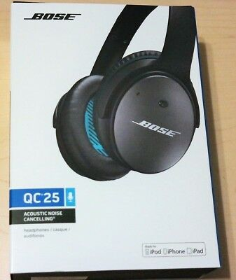 7ca7d594c9f Details about Bose QuietComfort 25 Acoustic Noise Cancelling Headphones for  Apple Black Wired