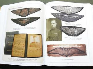 SIGNED-US-Army-WW1-AIR-SERVICE-PILOT-WINGS-FLIGHT-BADGE-INSIGNIA-REFERENCE-BOOK