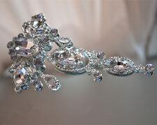 Stunning Bridal Applique Rhinestone Wedding Applique Diamante Trim Beaded Motif