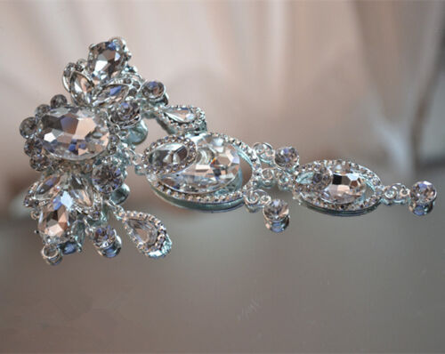 Bridal Dress DIY Applique Rhinestone Costume Dancing Dress Motif Diamante Trim