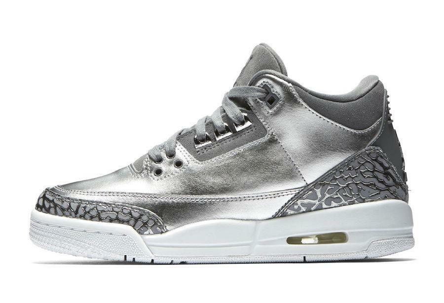6c2da51c4162 ... Nike Air Jordan 3 III III III Retro PRM HC Metallic Silver Chrome  Platinum Grey Cement ...