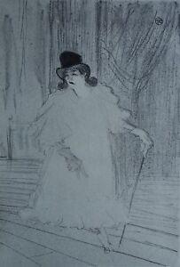253519a7e41 TOULOUSE-LAUTREC   Au cabaret - LITHOGRAPHIE signée  1927