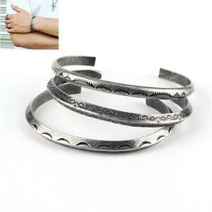 Fashion-Sliver-Bangle-Cuff-Bracelet-Retro-Viking-Titanium-Stainless-Steel-Gift