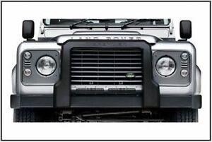 100% Vrai Genuine Land Rover Defender Nudge Bar/un Cadre Protection Bar, Vplpp 0060-afficher Le Titre D'origine