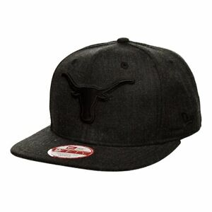 Texas-Longhorns-NCAA-Men-039-s-New-Era-Graphite-Black-Out-Adjustable-Snapback-Hat