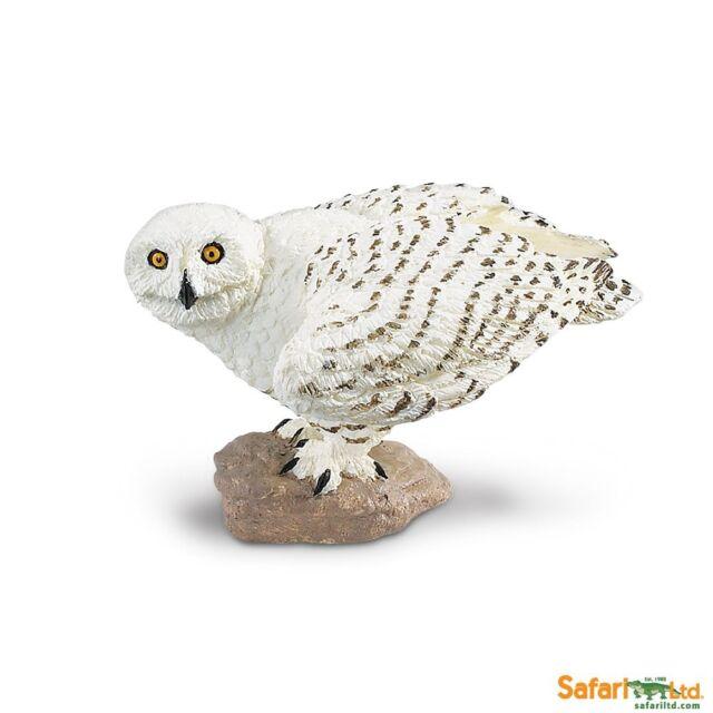 New Safari 264729 Snowy Owl Bird Replica Figure Toy