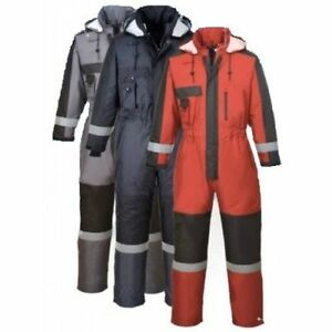 Waterproof Overall Padded Coverall Winter Boilersuit  Hood Outdoors Size S585