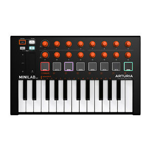Arturia-MiniLab-MkII-25-Slim-Key-MIDI-Keyboard-Controller-Orange-Edition