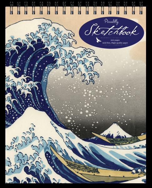 Hokusai Wave Sketchbook Top Spiral Large Unlined 2008 Spiral For Sale Online Ebay