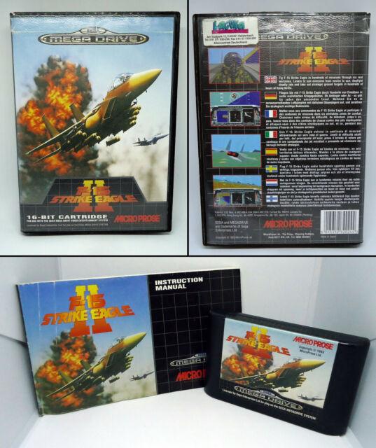 F-15 Strike Eagle II - incl manual - SEGA Mega Drive MD PAL - 1993