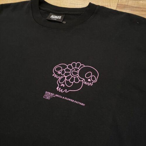 NEW Takashi Murakami Skull /& Flower Pattern Tee Black Pink ComplexCon L XL 2018