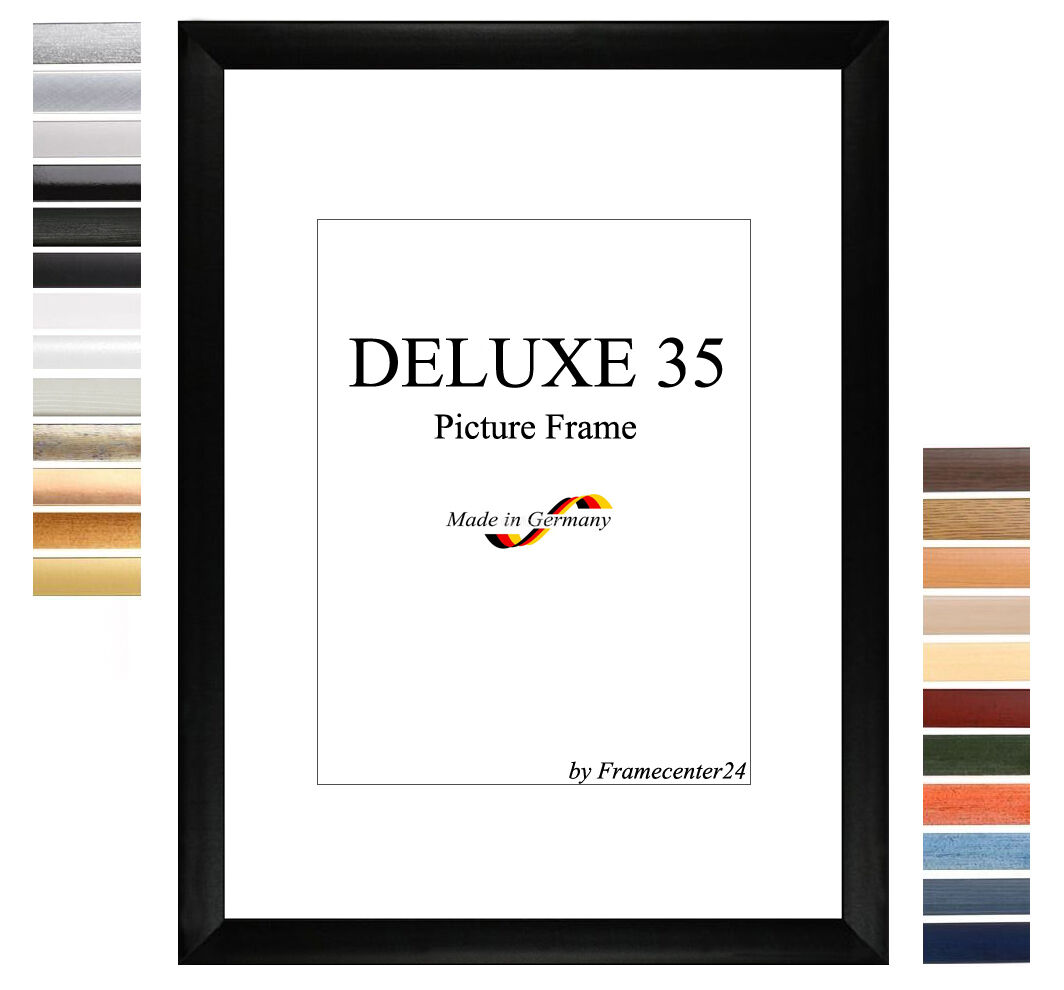 DELUXE35 Bilderrahmen 89x107 cm oder 107x89 cm Foto Galerie Posterrahmen