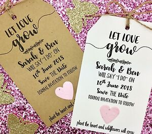 Plantable Confetti Seeds Save The Date / Evening Card Wedding Invitation