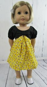 cf26a8789d27d Details about 2 Pc Dress and Shoes Fits American Girl Dolls & 18