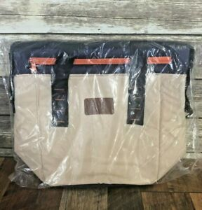 New-Disney-Cruise-Line-Insulated-Cooler-Shoulder-Bag-Beige-Blue-Orange-DCL-Tote