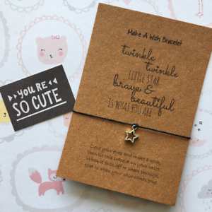 Twinkle Twinkle Little Star Make A Wish Bracelet Brave and Beautiful.......
