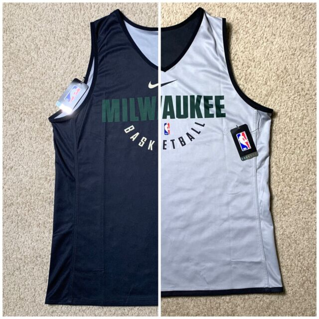 88746ff2bb102 Nike NBA Milwaukee Bucks Practice Reversible Jersey Size XL Tall Basketball