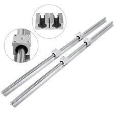 2pcs Linear Guide Rail Sbr20 1200mm Shaft Rods 4x Sbr20uu Blocks Local Stock