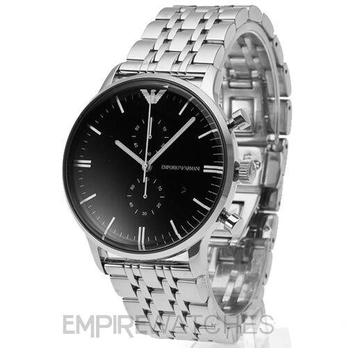 *NEW* MENS EMPORIO ARMANI GIANNI BLACK STEEL WATCH - AR0389 - RRP £379.00